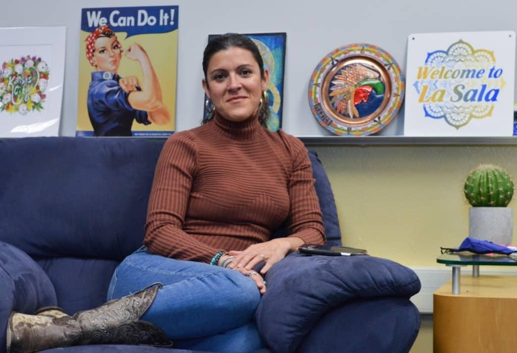 Eva Santiago in her Classroom